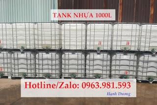 Tank nhựa 1000L, bồn chứa hóa chất 1000L
