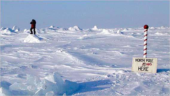 القطبان الشمالي والجنوبي