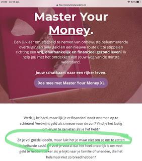 Master your Money schermafbeelding