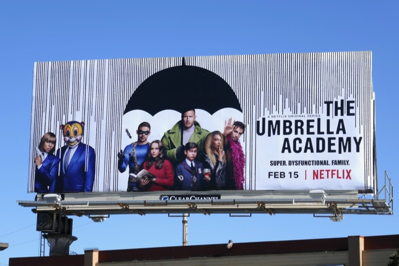 Umbrella Academy series premiere billboard