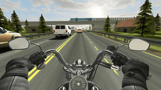 traffic rider adalah game simulasi motor