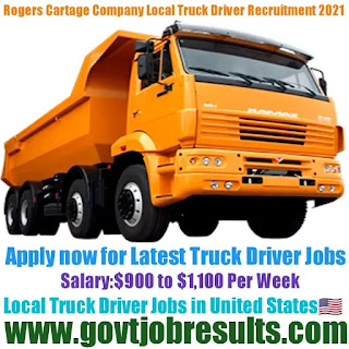 Rogers Cartage Company Local Truck Driver Recruitment 2021-22