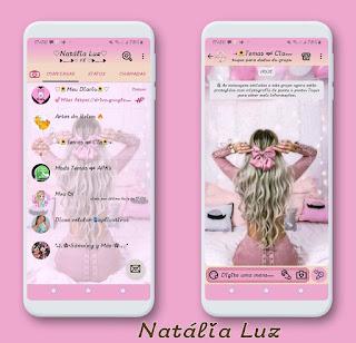 Beautiful Hair Theme For YOWhatsApp & Fouad WhatsApp By Natalia Luz