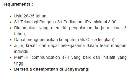 Lowongan Kerja Kota Banyuwangi Terbaru  2019.