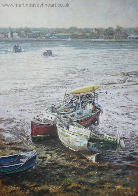landscape marine art M P Davey