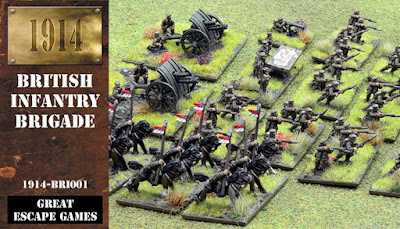 12mm 1914 British Infantry Brigade from Great Escape Games
