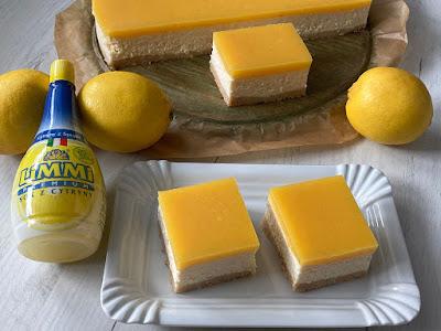 Ciasto z sera z polewą cytrynową