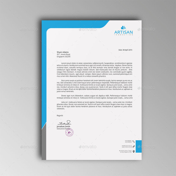 Free  Premium Letterhead Templates In Multiple Formats
