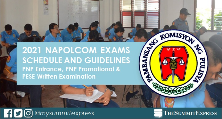 2021 NAPOLCOM PNP entrance, promotional exam schedule, guidelines, OLEASS