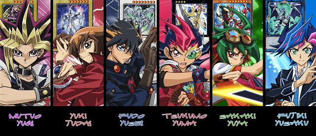karakter utama di setiap seri yugioh