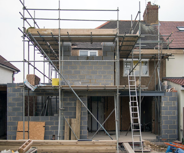Schaffold on a construction site