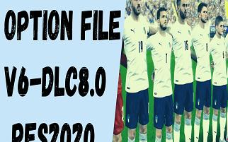 Option File V6 | DLC8.0 | Libertadores 2020 | PES2020 | PC