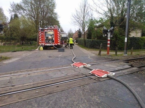 fire truck funny fail ramps won't stop a train