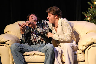 Todd Schaefer and Jeffrey Wright in New Line Theatre's I Love My Wife, 2010.