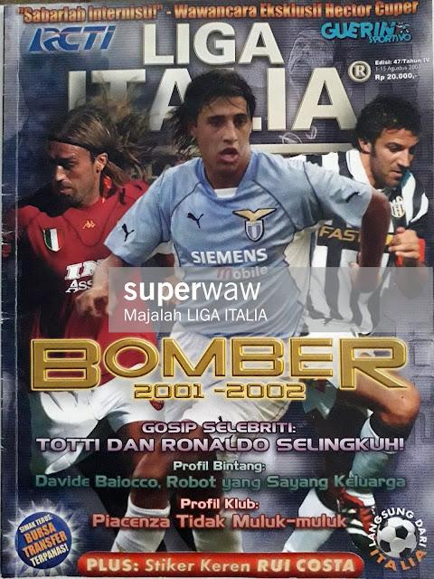 MAJALAH LIGA ITALIA: BOMBER 2001-2002