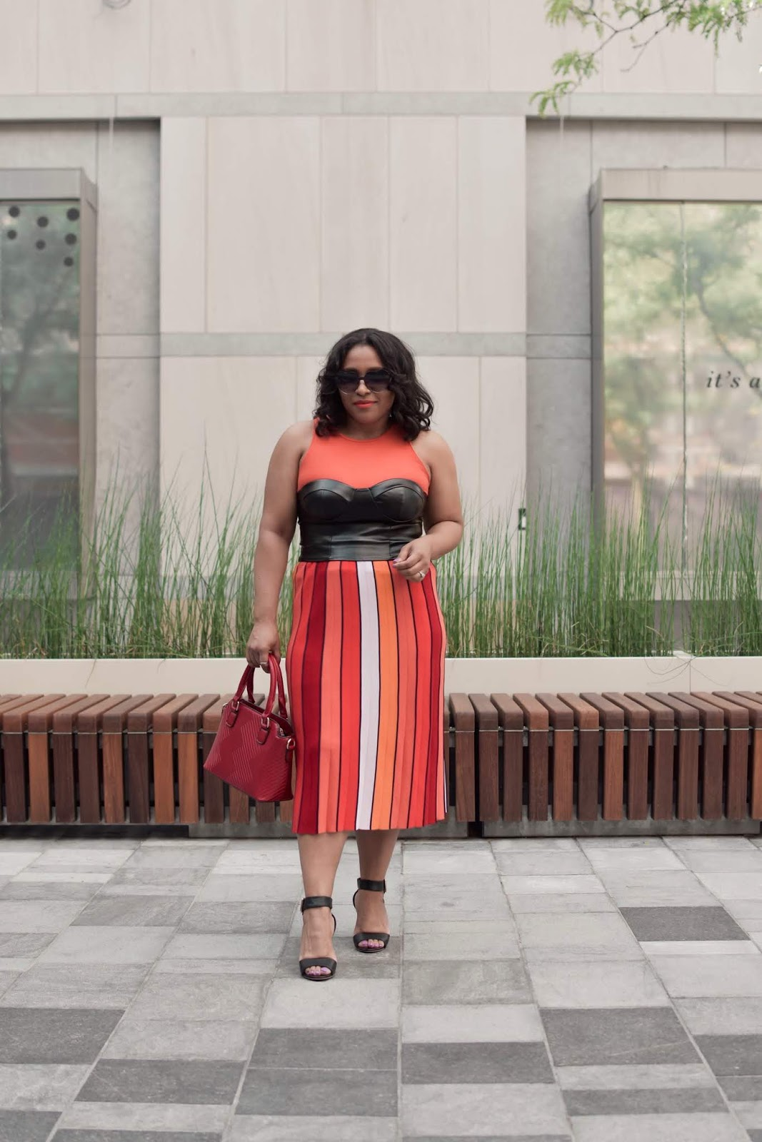Femme Luxe, rent the runway, rtr, colorful outfit ideas, rainbow skirt, corset top