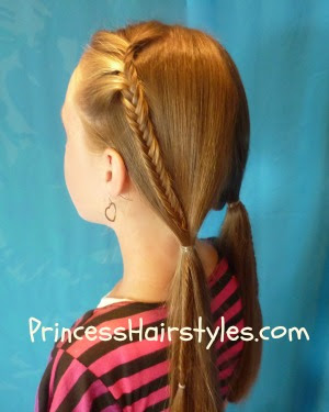 Fishtail Braid Bohemian Pigtails Hairstyles For Girls Princess