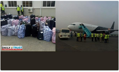 BREAKING! Many Nigerians Deported From The UK Arrive Lagos Airplane terminal. (Photographs)