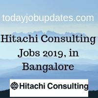 Hitachi Consulting Jobs 2019, in Bangalore