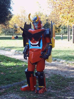 Uno dei cosplayer sui bastioni di Lucca