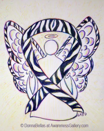 Zebra Guardian Angel Awareness Ribbon Image Picture