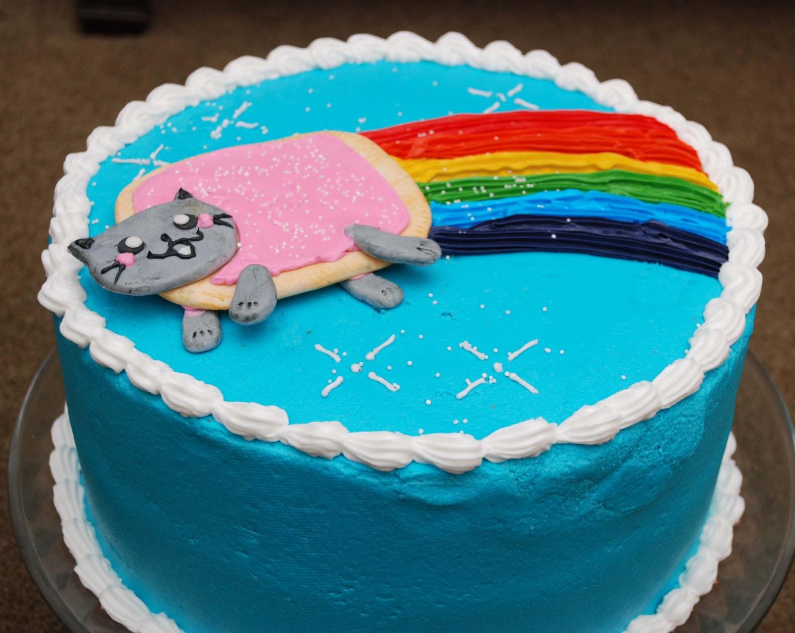 MyEyeQ Nyan Cat Rainbow Cake Please