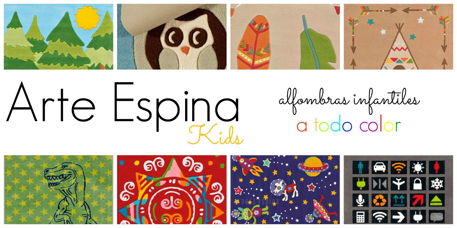 Arte espina kids alfombras infantiles a todo color for Alfombras el mundo
