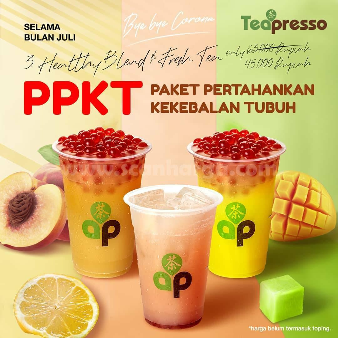 Promo Teapresso Paket PPKT - 3 Cup varian Healthy hanya Rp. 45.000