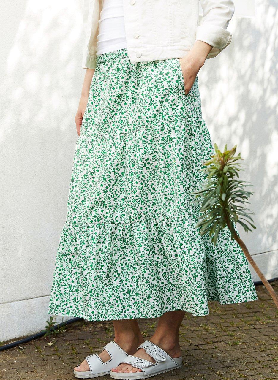 my midlife fashion, Baukjen Harriet organic skirt