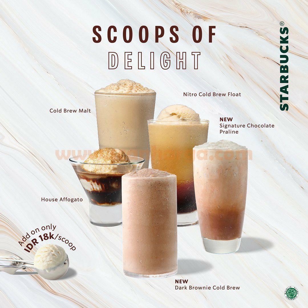 Starbucks Menu Baru Ice Cream Scoops Delight