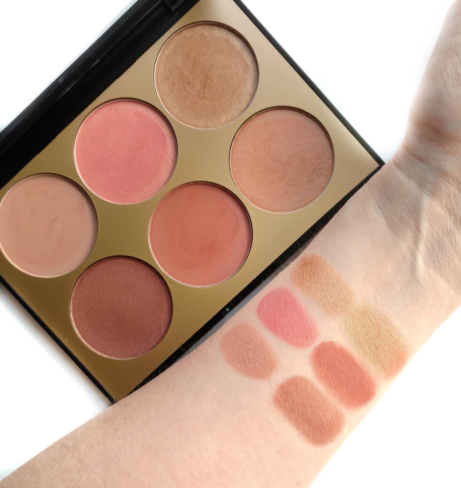 sephora collection contour blush palette swatches