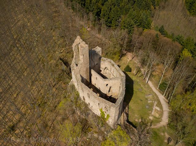 Château du Spesbourg — Vue aérienne