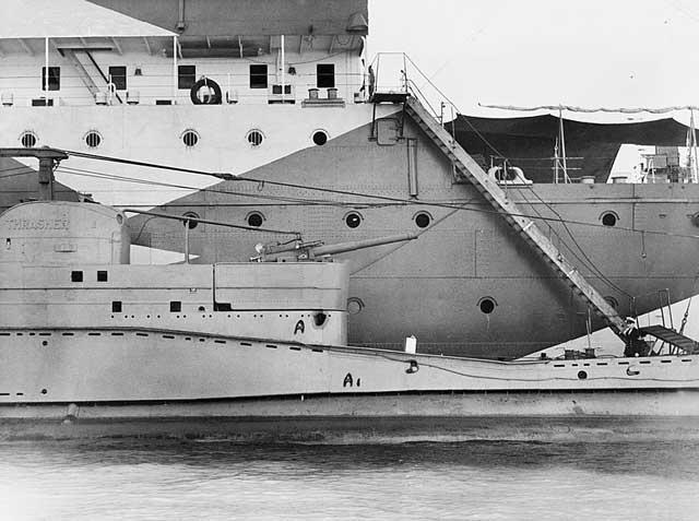 HMS Thrasher, returning to port on 15 February 1942 worldwartwo.filminspector.com