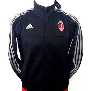 gambar jaket terbaru musim depan Jaket Ac Milan warna hitam Adidas terbaru musim 2015/2016 toko online enkosa sport kaulitas grade ori terpercaya