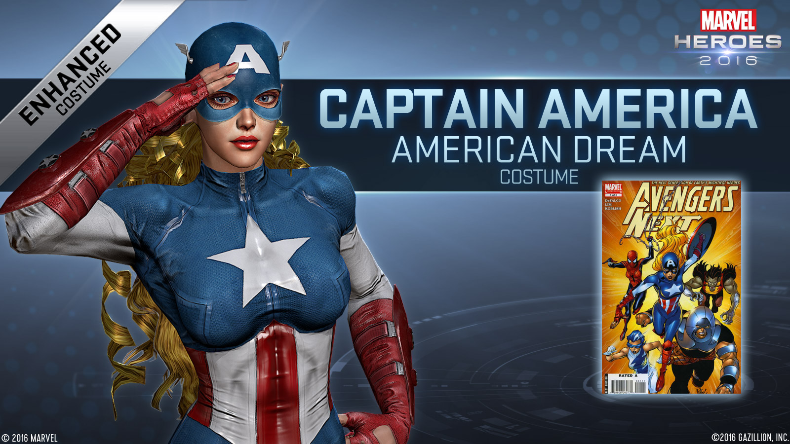 A Comic Odyssey American Dream Added To Marvel Heroes 2016