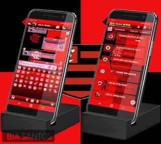 Flamengo Theme For YOWhatsApp & RA WhatsApp By Bia Santos