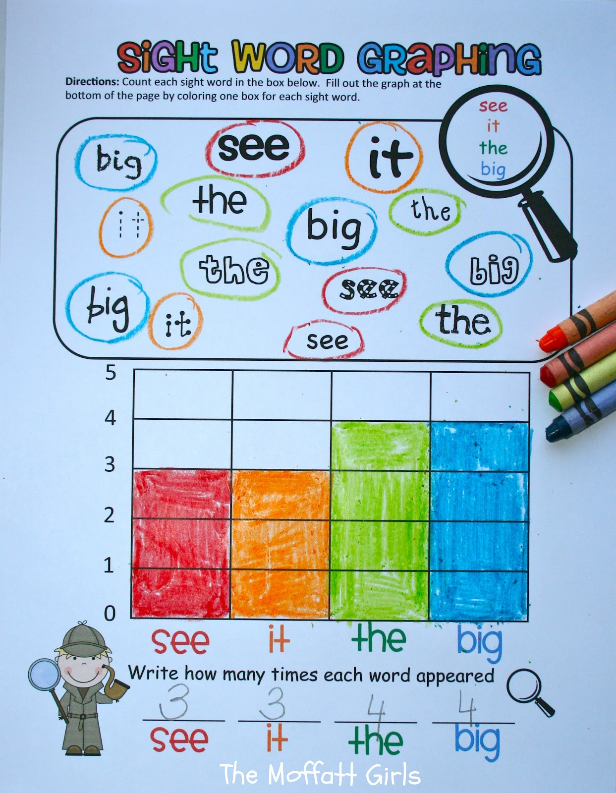 Sight Word Graphing Revised