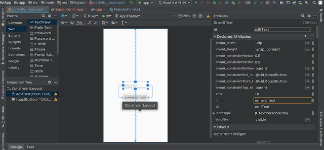android constraint layout explained