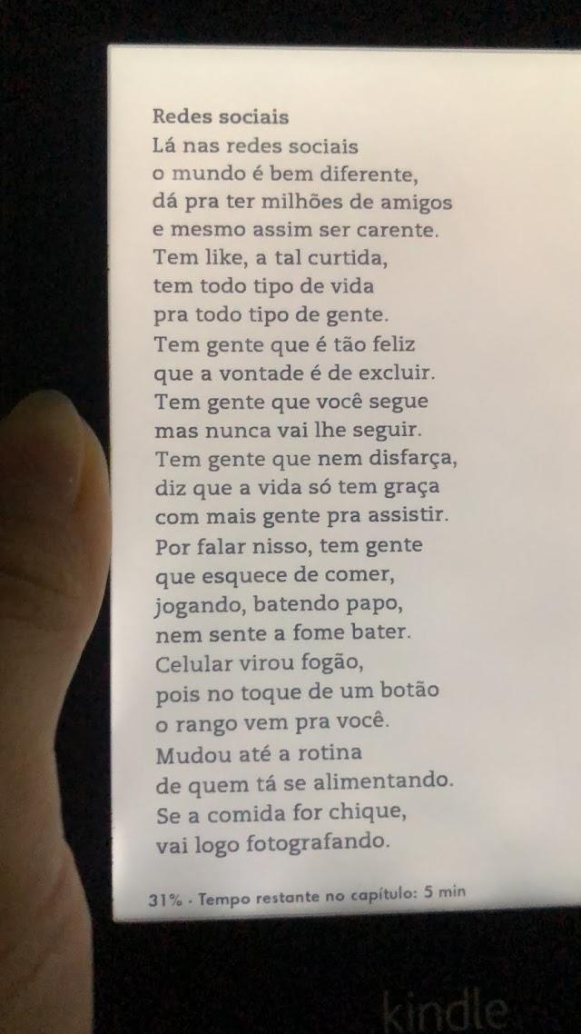 Redes Sociais, de Bráulio Bessa, para refletirmos!