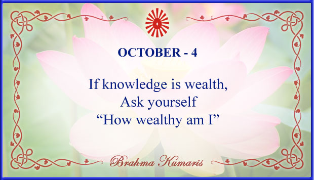 Thought For The Day October 4