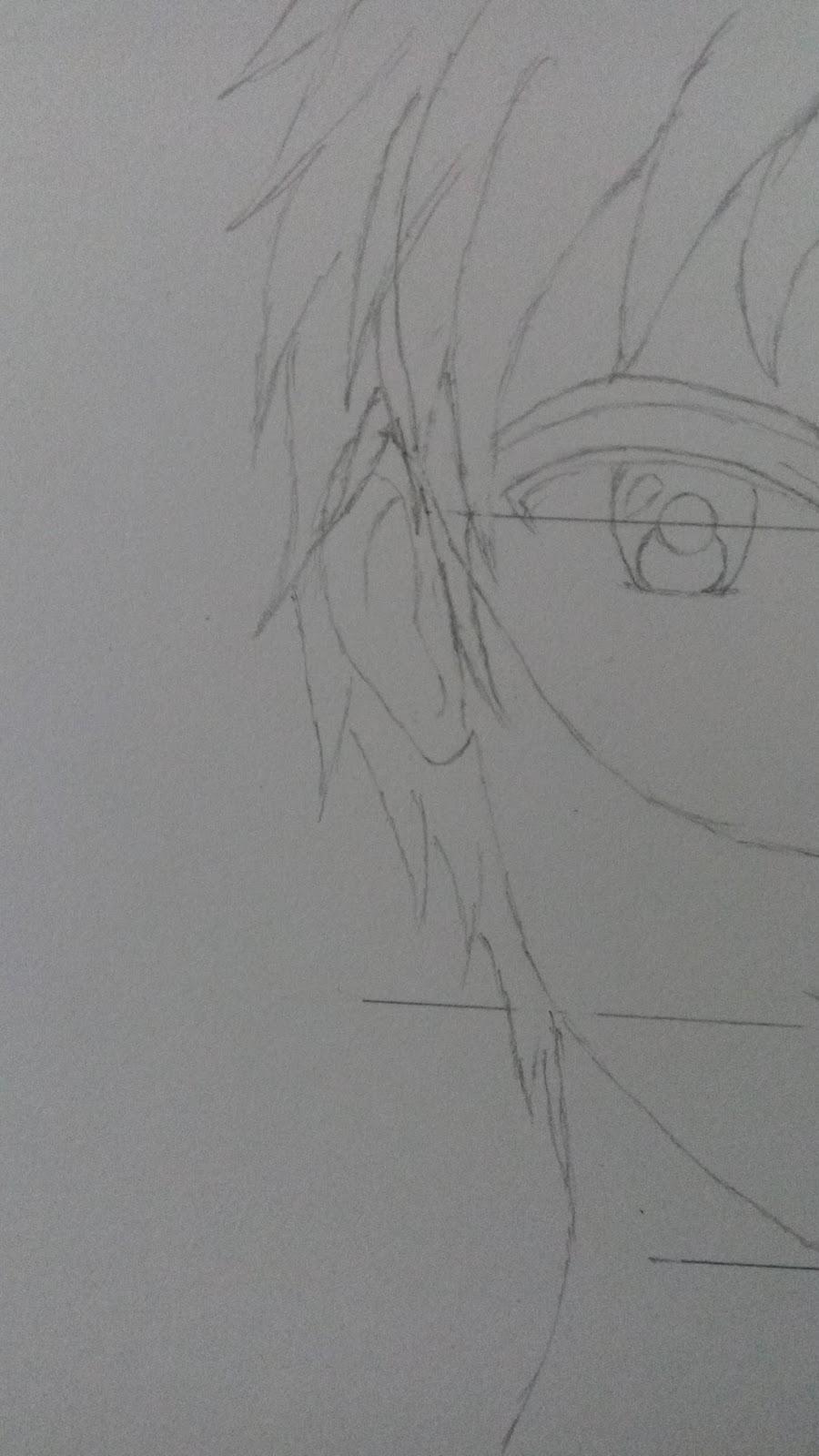 Cara menggambar kepala karakter manga pria staynime