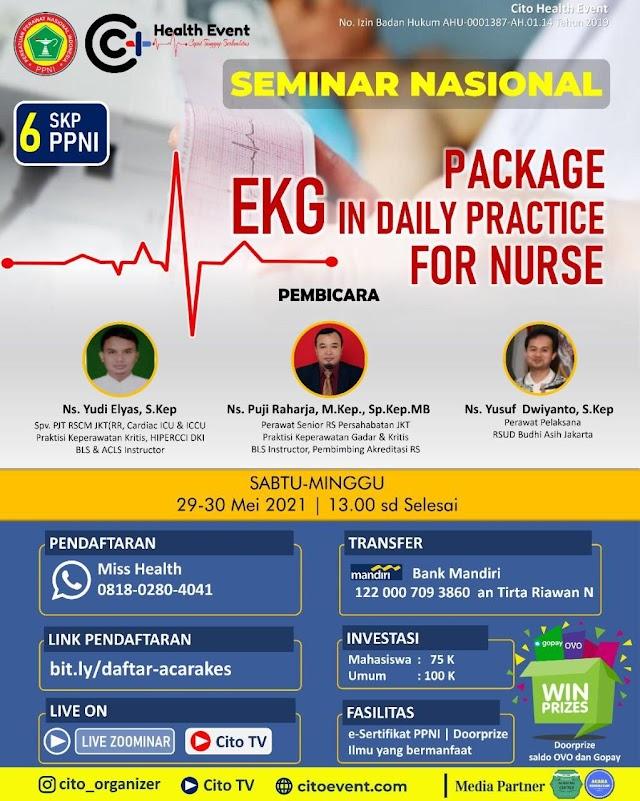 (6 SKP PPNI) Seminar Nasional EKG in Daily Practice for Nurse