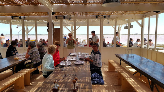 Lunch at the salt pans