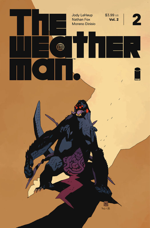 The Weatherman, Vol. 2 #2 Mike Mignola Variant Cover and Preview