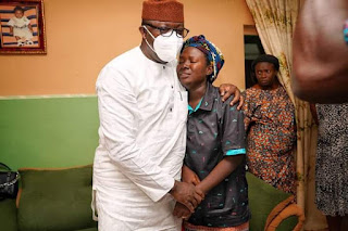 Gov #Fayemi Visits #Family Of #Officer Who Died In #Crashed #Airforce #Plane ( Pictures )