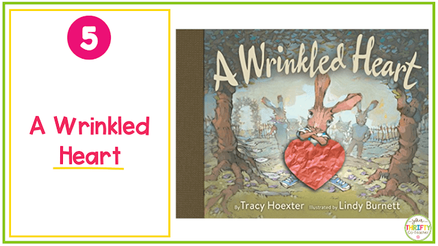 Valentine's Day Books you can share with your upper elementary students? A Wrinkled Heart is a great way to discuss the power of words.