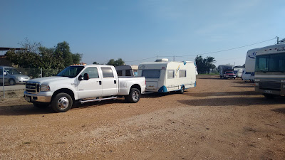 Caravan storage and delivery, Marjal Guardamar