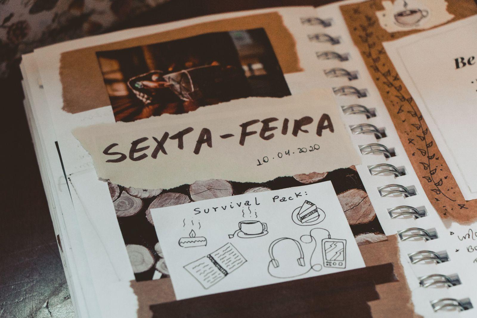 Minha história com art journaling marrom