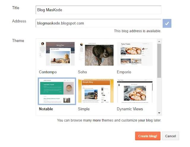 Panduan Lengkap, Membuat Blog di Blogspot