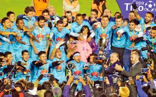 Video festejos de Bolívar Campeón Torneo Apertura 2017